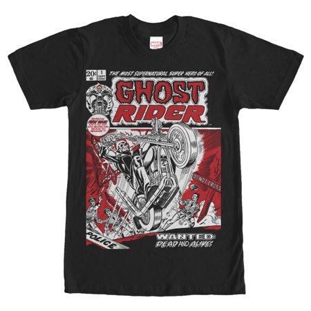 Marvel Men's Ghost Rider Comic Book Cover Print T-Shirt