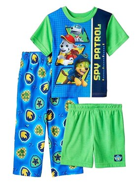 Paw Patrol Baby Boys 3 piece Pajamas Set, Green, Size: 12 Months