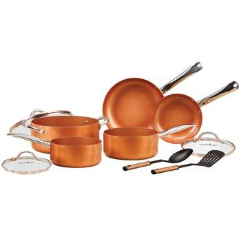 10-Pc Chef's Copper Cookware