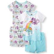 757c267c9a01 Girls  My Little Pony 4 Piece Pajama Sleep Set (Little Girl   Big Girl