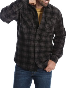 Men's and Big & Tall Wicking Fleece Shirt Jacket, up to Size 5XL