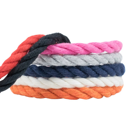 WCP Cotton Rope Soft Triple Strand 1/4 Inch Natural Artisan Cord in Various Colors and Sizes 18' Black Twisted Cord