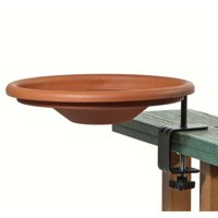 Wood Link Deck Mount Bird Bath