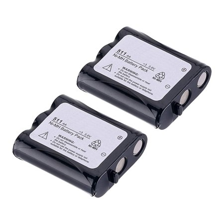 Replacement Battery For Panasonic P-P511 - Fits KX-TGA270S, KX-TGA510M, KX-TG2740, KX-TG5100  - 2 Pack