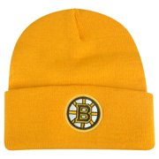 6858d77a9 NHL Boston Bruins Cuffed Rice Mix Yellow Beanie Knit Hat Toque Skully Winter