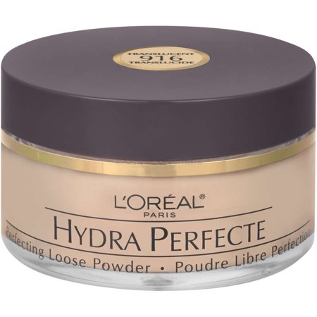 L'Oreal Paris Hydra Perfecte Perfecting Loose Face Powder, Translucent, 0.5 - Silky Soft Loose Powder