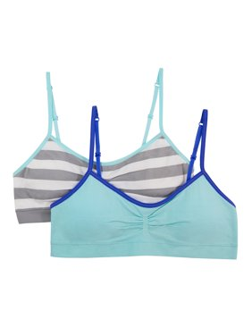Girls Seamless Bra with Removable Pads, 2 Pack
