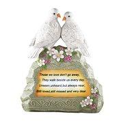 Solar Doves Memorial Garden Stone
