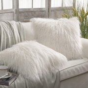 00484f31697a Phantoscope Set of 2 Throw pillow Covers Faux Fur Phantoscope Decorative  New Luxury Series Merino Style