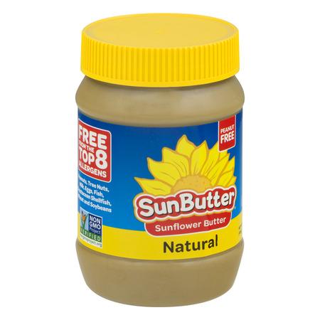 Almond Butter 16 Oz Glass (SunButter Natural Sunflower Butter, 16 oz )