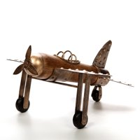 Hosley Elegant Expressions Tabletop Airplane, Wood and Metal