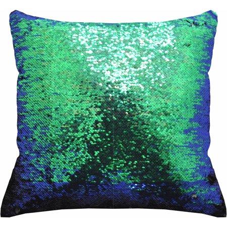 mainstays reversible 17 x 17 sequin mermaid decorative pillow