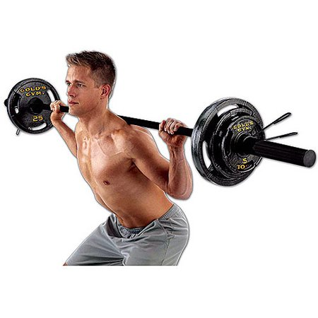Gold's Gym - Olympic Weight Set, 110 (Wheel Weight Set)