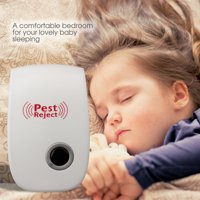 Newest Ultrasonic Pest Repeller- Electronic Pest Control Plug-in Repellent for Mosquitoes, Mice, Ants, Roaches, Spiders, Bugs, Flies, Insects, Rodents(set of 4)
