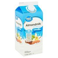 Great Value Vanilla Almondmilk, 1/2 gal