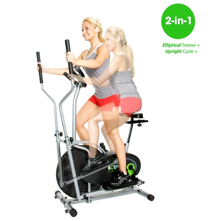 Pink Elliptical - Body Rider 2-in-1 Fitness machine w/ elliptical trainer & exercise bike