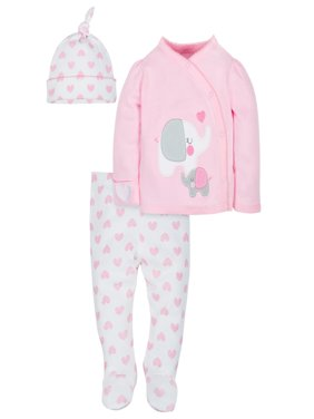 Organic Cotton Take-Me-Home Set, 3-piece (Baby Girls)