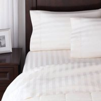 Better Homes and Gardens 300 Thread Count Damask Stripe Queen Sheet Set, White