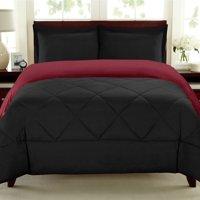 Premium Down Alternative Reversible Box Stitched 3-Piece Comforter Set