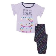 f8df48554 Girls' Hello Kitty Girl's Ruffle Sleeve 2 Piece Pajama Sleep Set (Little  Girl &. Price