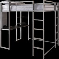 Dorel DHP Full Metal Loft Bed Over Workstation Desk, Multiple Colors