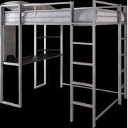 Black Loft Bed With Desk 60 L Shaped Desk