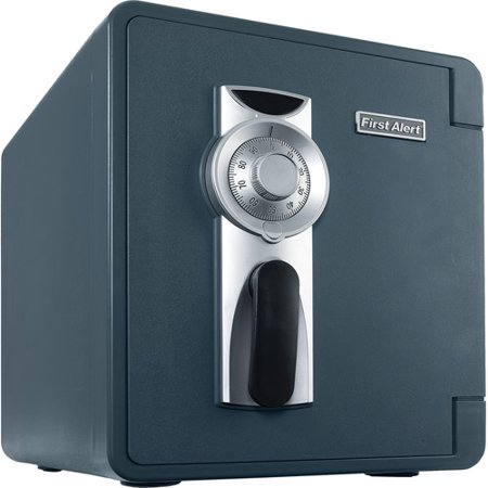 - First Alert 2087F-BD Waterproof and Fire-Resistant Bolt-Down Combination Safe, 0.94 Cubic Feet