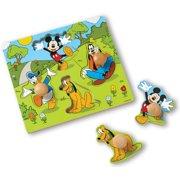 Melissa & Doug Disney Mickey Mouse Jumbo Knob Wooden Puzzle