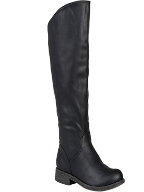 d6968e29c82f Women s Wide Calf Slouchy Round Toe Boots