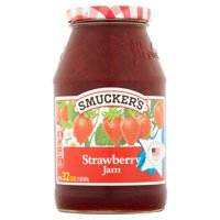 (3 Pack) Smucker's Strawberry Jam, 32-Ounce