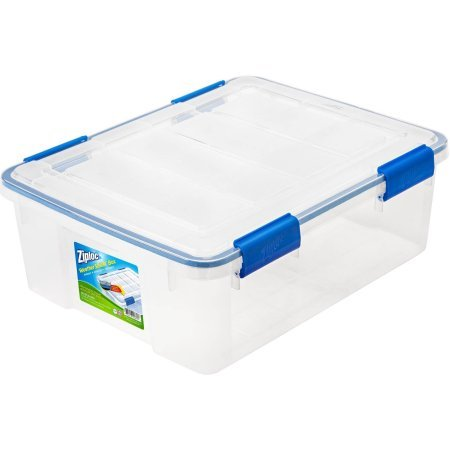 Ziploc 26.5 Qt./6.6 Gal. WeatherShield Storage Box, Clear (Available in a Pack of 4 or Single Unit)
