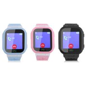 Children Smart Watch Kids Wrist Watch with Anti-lost GPS Tracker SOS Call Location Finder Remote Monitor Pedometer Functions Parent Control By iPhone and Android Smartphones (Blue)