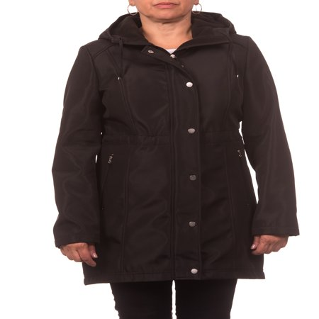 - Women's Soft Shell Hooded Zip Front Anorak