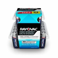 Rayovac High Energy Alkaline, 30 AA & 24 AAA Batteries, 54 Count