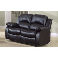 Classic  2 Seat Bonded Leather Double Recliner Loveseat