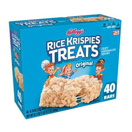 Kellogg's Rice Krispies Treats Crispy Marshmallow Squares Bars 31.2oz 40 Ct](Rice Krispie Cakes Halloween)