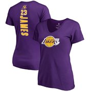 abda4d9b7e9 LeBron James Los Angeles Lakers Fanatics Branded Women s Backer Name    Number V-Neck T
