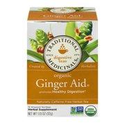 Traditional Medicinals Organic Ginger Aid Tea Bags, 16 Ct