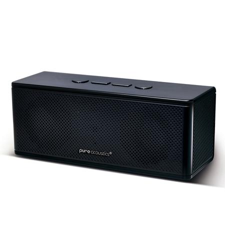 HipBox Mini Wireless Portable Bluetooth Companion Speaker With Phone Call Handling & Aux + FM Radio - Black (Portable Mini Speakers)