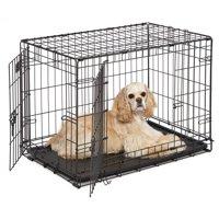 MidWest 30' Double Door iCrate Metal Dog Crate, Black