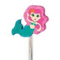 Mermaid Pinata, Pull String, 22.25in