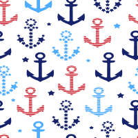 """RTC Patriotic Fabrics 100% Cotton, Anchor, 44"""" Wide, 140 Gsm, Quilt, Crafts By The Yard"""