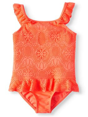 1piece Swimsuit with Ruffles (Toddler Girls)