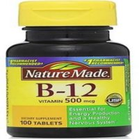 Nature Made Vitamin B-12 500 mcg Tablets 100 ea (Pack of 3)