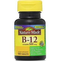 Nature Made Vitamin B-12 500 mcg Tablets 100 ea (Pack of 2)