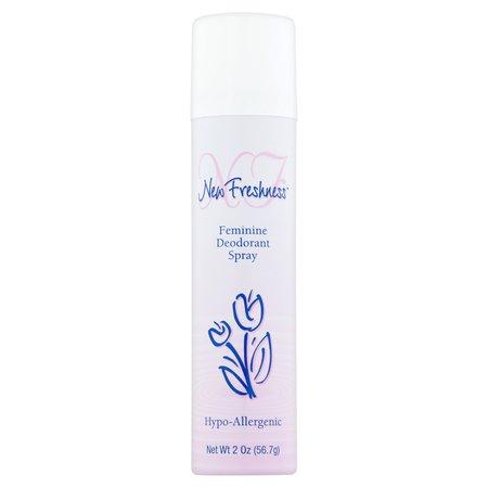 - (4 Pack) New Freshness Feminine Deodorant Spray 2 Oz Aerosol Can