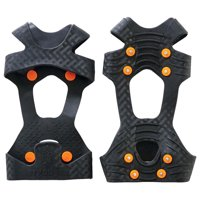 Ergodyne TREX 6300 Traction Cleat Grips Ice and Snow, One-Piece Easily Attaches Over Shoe/Boot with Carbon Steel Spikes to Provide Anti-Slip Solution, 2XL
