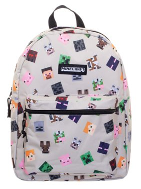"Minecraft Characters All-Over Print 16"" Backpack"