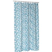Royal Bath Circles Blue Stall Size 100 Polyester Fabric Shower Curtain 54 Wide