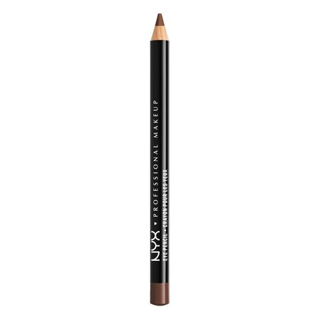 NYX Professional Makeup Slim Eye Pencil, Dark Brown - Black And Green Halloween Eye Makeup